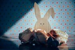 Wielkanocna dekoracja z pastelowymi kolorami Fotografia Stock