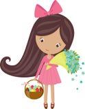 Wielkanocna dziewczyna ilustracja wektor