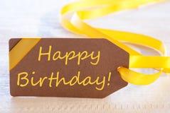 Wielkanocna etykietka, teksta wszystkiego najlepszego z okazji urodzin Zdjęcia Stock
