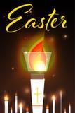 Wielkanocna ilustracja z płonącymi świeczkami Zdjęcie Stock