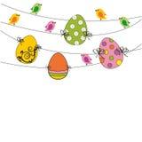 Wielkanocna karta Obrazy Royalty Free