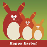 Wielkanocna karta Zdjęcia Stock