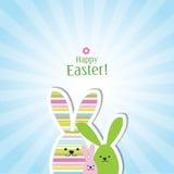 Wielkanocna karta - kartka z pozdrowieniami z kopii przestrzenią Zdjęcia Royalty Free