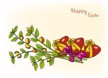 Wielkanocna karta, wektorowa ilustracja Zdjęcie Stock