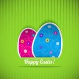 Wielkanocna karta z dwa jajkami Zdjęcie Royalty Free
