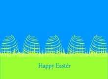 Wielkanocna karta z jajkami Obraz Royalty Free