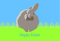 Wielkanocna karta z jajkami Obrazy Royalty Free