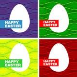 Wielkanocna karta z jajkiem Fotografia Royalty Free