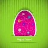 Wielkanocna karta z jajkiem Zdjęcia Royalty Free