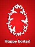 Wielkanocna karta z motylami Fotografia Royalty Free