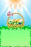 Wielkanocna karta z przestrzenią dla teksta Obrazy Stock