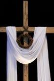 Wielkanocna korona ciernie i krzyż fotografia stock