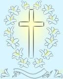 Leluja 3 i krzyż Zdjęcia Stock