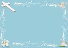 Wielkanocna leluja i krzyż Zdjęcia Royalty Free