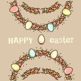 Wielkanocna powitanie karta ilustracji