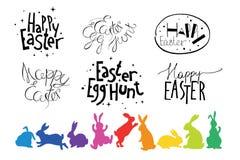 Wielkanocna ręka rysujący projektów elementy Obraz Stock