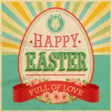 Wielkanocna rocznik karta. Obrazy Stock