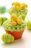 Wielkanocne babeczki zdjęcie stock