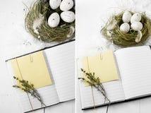 Wielkanocne notatki Zdjęcie Stock