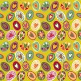 Wielkanocnego jajka bezszwowy wzór Zdjęcie Royalty Free