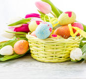 Wielkanocnego jajka dekoracja Zdjęcia Stock