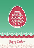 Wielkanocnego jajka karciany projekt z ludową dekoracją Zdjęcia Stock
