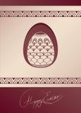 Wielkanocnego jajka karciany projekt z ludową dekoracją Zdjęcie Royalty Free