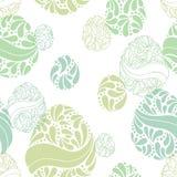Wielkanocnego jajka koloru graficznego doodle bezszwowy deseniowy ilustracyjny wektor Zdjęcia Royalty Free