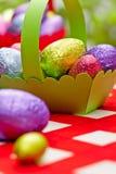 Wielkanocnego jajka kosz Obrazy Royalty Free