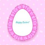 Wielkanocnego jajka krezki koronki ramy ilustracja Obrazy Stock