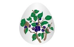 Wielkanocnego jajka kwiatu tło Fotografia Stock