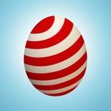 Wielkanocnego jajka Malujący Czerwony kolor Paskuje ilustrację ilustracji