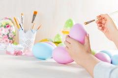 Wielkanocnego jajka obraz w warsztacie Obrazy Royalty Free