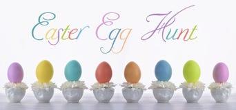 Wielkanocnego jajka polowania karta Obrazy Royalty Free