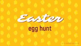 Wielkanocnego jajka polowania karta, bezszwowy wektoru wzór Zdjęcie Royalty Free