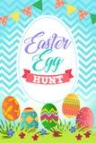 Wielkanocnego jajka polowania plakat royalty ilustracja