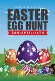 Wielkanocnego jajka polowania ulotki szablonu projekt