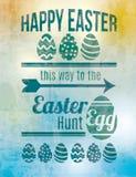 Wielkanocnego jajka polowania znak Zdjęcia Stock