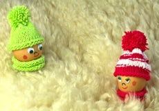Wielkanocnego jajka postacie w miłości Zdjęcia Stock
