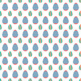 Wielkanocnego jajka projekta kształta wzoru tło obraz stock