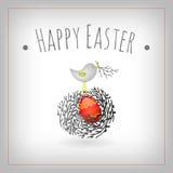 Wielkanocnego jajka ptaka gniazdeczko royalty ilustracja