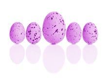 Wielkanocnego jajka rząd Fotografia Stock