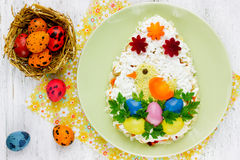 Wielkanocnego jajka sałatka Fotografia Royalty Free