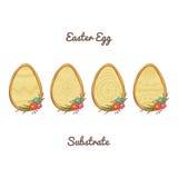 Wielkanocnego jajka substrat royalty ilustracja