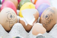 Wielkanocnego jajka tragiczna przerwa jajka Zdjęcia Stock