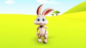 Wielkanocnego królika bieg zbiory wideo