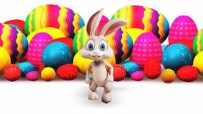 Wielkanocnego królika bieg od jajek zbiory