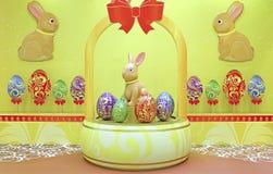 Wielkanocnego królika dekoracja Zdjęcie Royalty Free