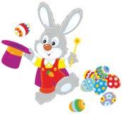 Wielkanocnego królika iluzjonista royalty ilustracja