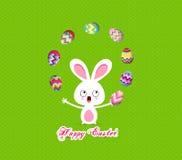 Wielkanocnego królika jajek zabawy figlarnie śliczny humor royalty ilustracja